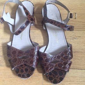 Salvatore Ferragamo Shoes - Ferragamo Crocodile Sandals